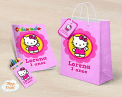 Kit colorir giz sacola Hello Kitty