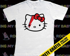 Camiseta Infantil Hello Kitty Bowie