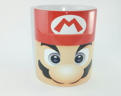 Caneca De Porcelana 325ml Super Mario