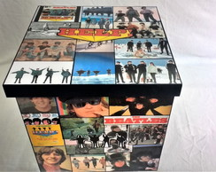 Caixa para guardar LP´s The Beatle Help (Grande)
