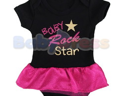 Body Bebê Rock Star