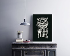 "Placa decorativa ""Burn To Be Free"""