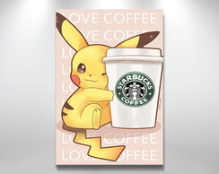 Placa Decorativa pikachu starbucks