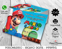 Convite Digital Tema Super Mario