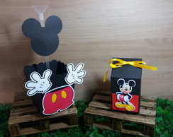 KIT 10 CACHEPOS E 10 CAIXAS MILK MICKEY