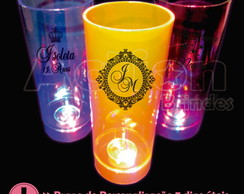 Copo De Led Long Drink 350ml Personalizado - Kit 20 Unidades