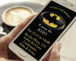 Convite Digital Batman Whatsapp