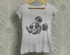 Camiseta Baby Look Robotic Mickey