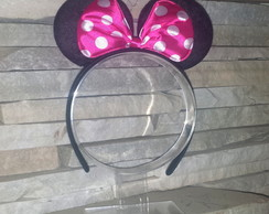 Tiara Arco Clássico Minnie Mouse Pink
