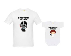 Kit Camiseta Darth Baby Princesa Leia Baby