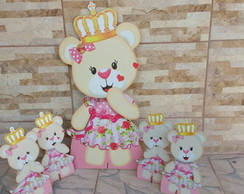 Kit Ursa princesa mdf