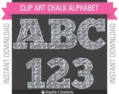 Kit Digital Chalkboard Alfabeto 2