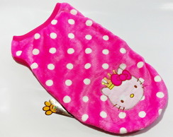 Roupa PET Aveludada Hello Kitty - G