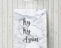 Pôster de Frase - Try Again - A3
