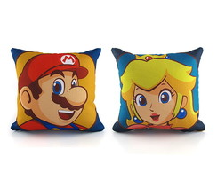 Kit Mini Almofadas Mario and Peach