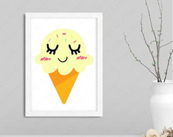 Quadro infantil ice cream - 1190 sorvete