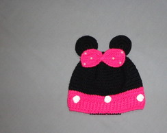 GORRO TOUCA PERSONAGEM MINIE TAM 3 MESES