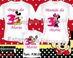 Kit Familia Camisetas Minnei C/3