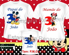 Kit Familia Camisetas Mickey C/3