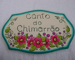 Placa Porta Canto do Chimarrão