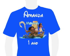 Camiseta Moana colorida