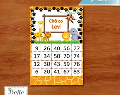 Cartela de bingo Safari