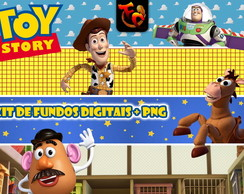 Kit Fundos Digitais + PNG - ToyStory