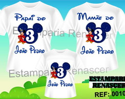 Kit Familia Camisetas Mickey Mago C/3