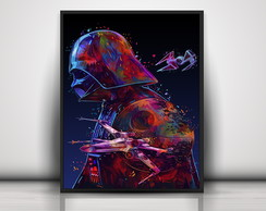 Poster Colorful Darth Vader