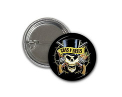 Botton Guns and Roses - 2,5cm