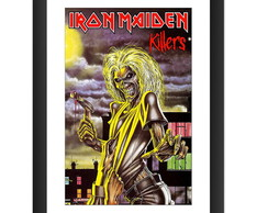 Quadro Iron Maiden Killers Banda Rock 80