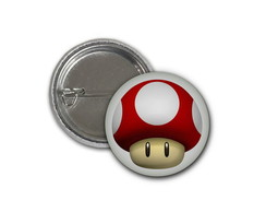 Botton Cogumelo - Super Mario - 2,5cm