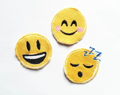 Patches Bordados Kit 09 Emojis 3 Patches