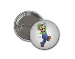 Botton Luigi - Super Mario - 2,5cm