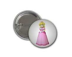 Botton Princesa Peach-Super Mario-2,5cm