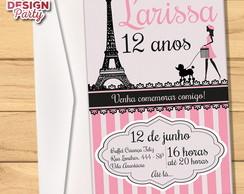 Convite Barbie Paris Impresso Elo7