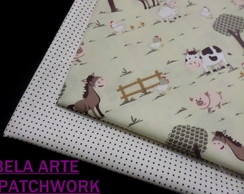 *SUPER KIT TECIDO PATCHWORK 30 X 70CM