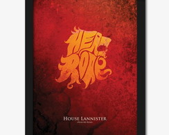 Quadro Game Of Thrones: Lannister A3