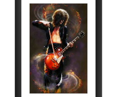 Quadro Led Zeppelin Jimmy Page Rock Arte