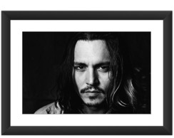 Quadro Johnny Depp Ator Filme Cinema Art