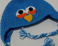 touca Croche Angry Birds Blue
