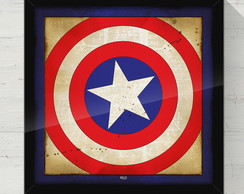 Quadro Decorativo Capitao America 40x40