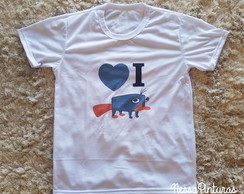 Camiseta I love Perry o ornitorrinco