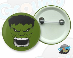 Botton 3,5 - Buton Hulk Super Heróis