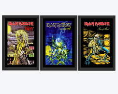Kit 3 Quadro Iron Maiden Banda Rock Arte