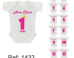 kit Body Mesversario com 12 meses