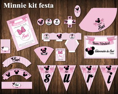 Minnie Festa Kit Digital ROSA LUXO