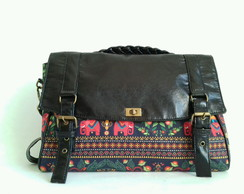 Bolsa Carteiro Black Indian