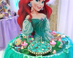 Display Busto Toten Ariel Princesas