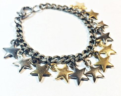 Pulseira star mix de metais